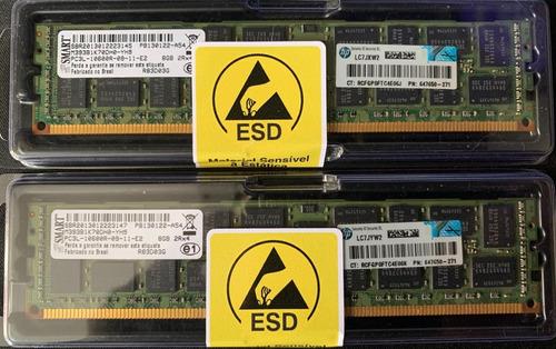 Imagem 1 de 1 de Memoria Kit 16gb Pc3l-10600r Hp 647650-271 Proliant