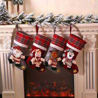 4 Pz Grande Bota Navideña Colgante Decoración Navidad Botas