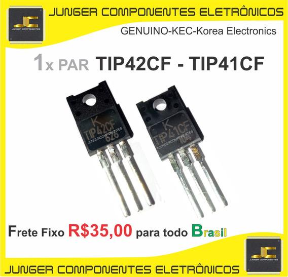 Tip41cf - Tip42cf = 1x Par = 2 Peças - Tr Reparo De Receiver Marantz , Sansui, Sony , Polyvox .philips, Cce, Frahm