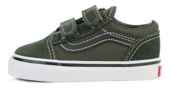 Zapatillas Vans Nene Old Skool V Verdes Oscuro