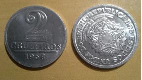Antiga Moeda Alumínio Fc Inclinada 1958