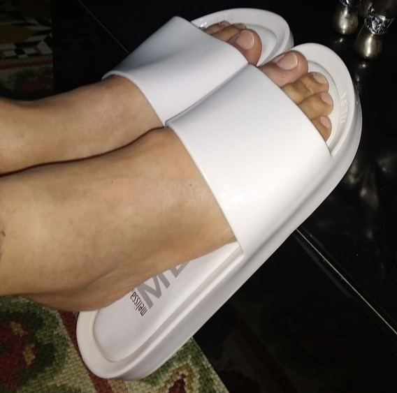 Melissa Beach Slide Branco Tamanho 41