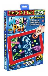 Tablet De Dibujos Con Luz Magic Pad Incluye 4 Marcadores La