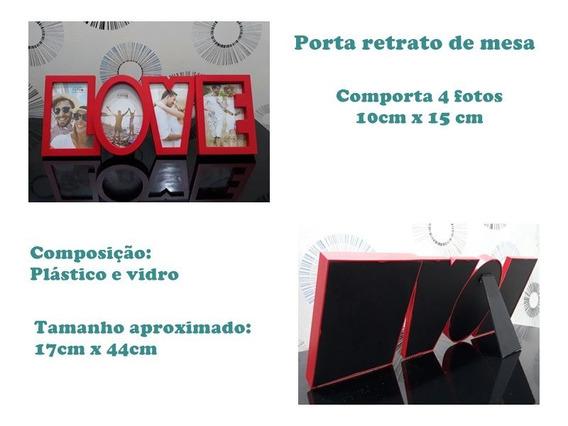Porta Retrato Múltiplo De Mesa Para 4 Fotos Love Rio Master