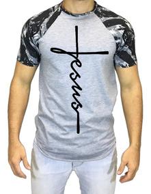 Camisa Oversized Longline Jesus Raglan Camiseta