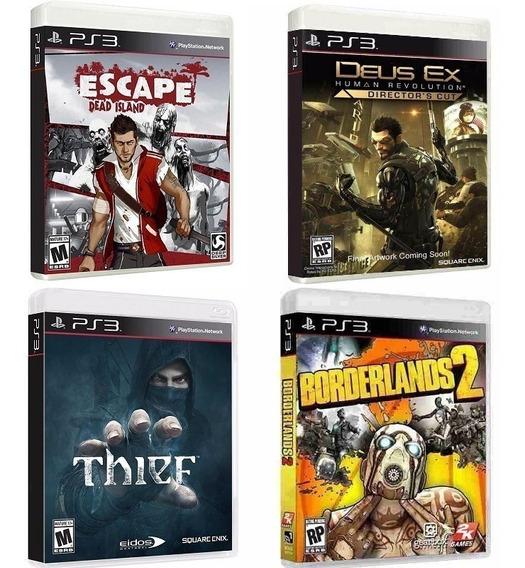 Borderlands 2 + Deus Ex + Escape Dead Island + Thief - Ps3