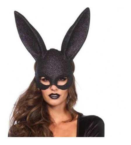 Mascara Halloween Disfraz Sexy Conejita Mujer Bunny