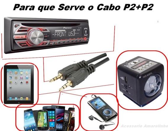 10 Cabo Auxiliar P2 50 Cm ,mp3 Mp4,som Do Celular No Carro