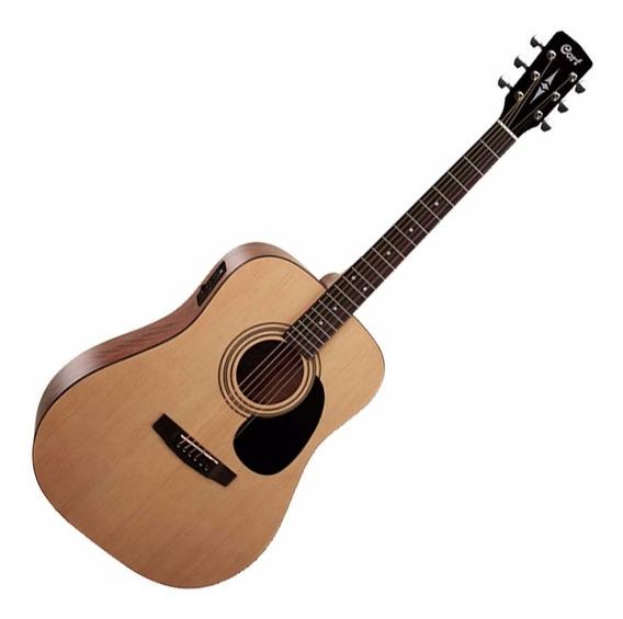 Guitarra Electroacústica Cort Ad810 E Op Con Funda - Oddity
