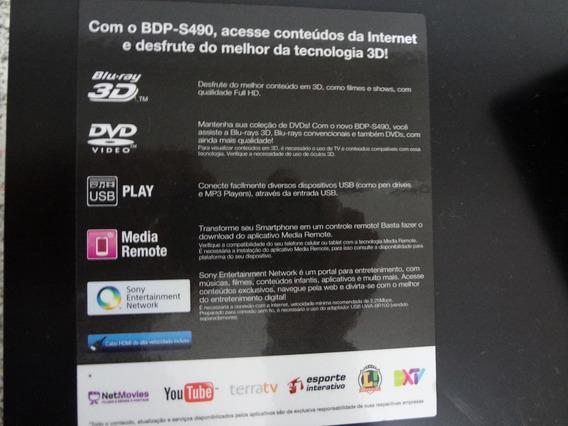 Bluray Player Sony Bdp-s490 Dvd