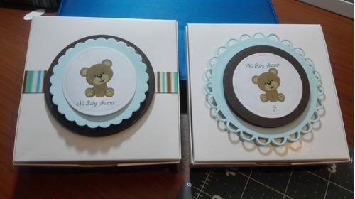 Imagen 1 de 12 de Caja Para Torta Troquelada Baby Shower, Matrimonio, Comunión