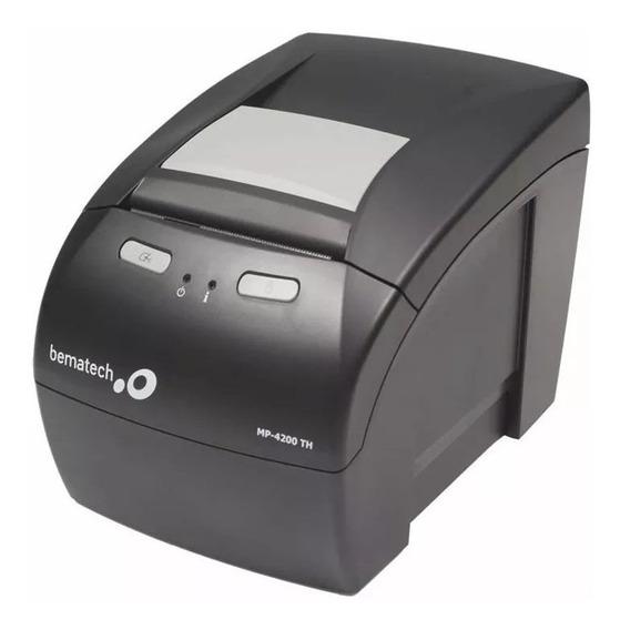 Impressora Térmica Bematech Mp-4200 Th Rede Rj45 + Garantia