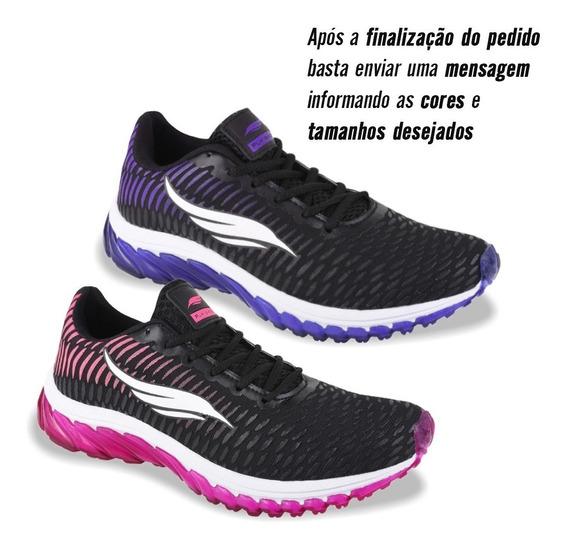 Combo Kit 2 Pares Tênis Esportivo Feminino Academia Corrida