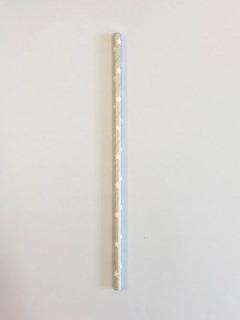 1000 Canudos Papel Prata- Estrela Branca -6mm -biodegradavel