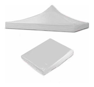 Oferta 4 Piezas Lona 2x2 Color Blanco 100% Impermeable