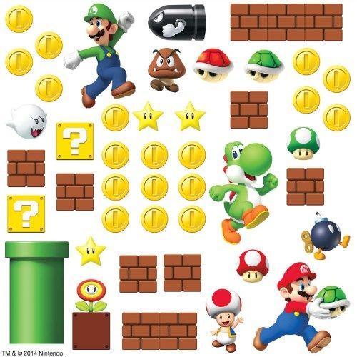 Roommates Rmk2351scs Nintendo Súper Mario Construye Una Esc