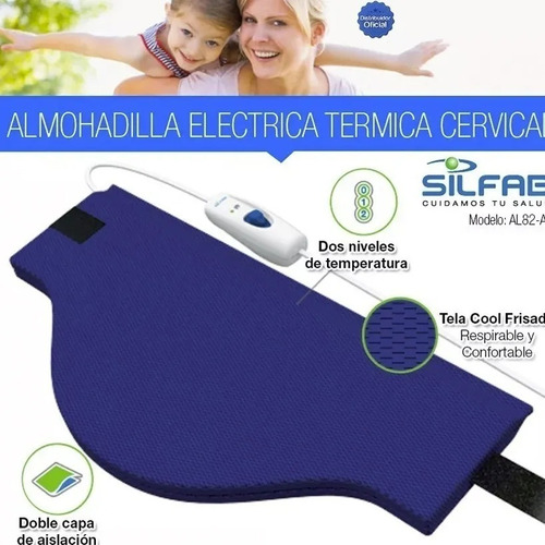 Almohadilla Eléctrica Cuello Cervical Al82 Silfab