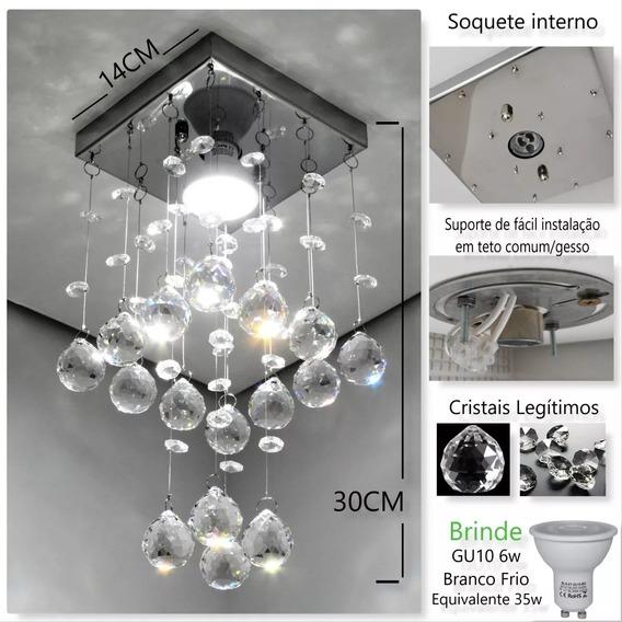 Lustre De Cristal Original K9 Com Lâmpada - Modelo Torre