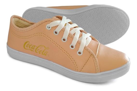 Tênis Feminino Casual Coca Cola Promoção Leve Macio Conforto