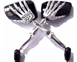 Espelho Retrovisor Moto Custom Riders Skull