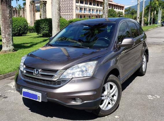 Honda Cr-v 2011 Elx 2.0 Awd Autom. Marrom Excelente Estado