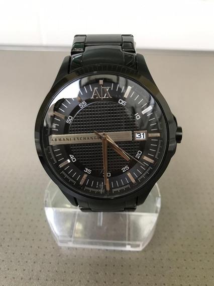 Relógio Armani Exchange Masculino Ax2104/4pn Preto Semi Novo