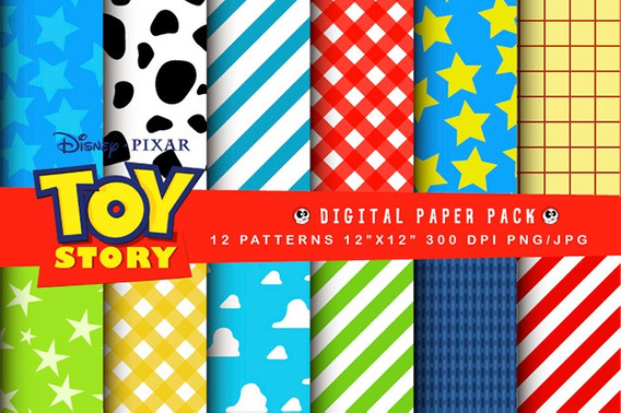 Toy Story Patterns, Patrones Digitales Para Scrapbooking