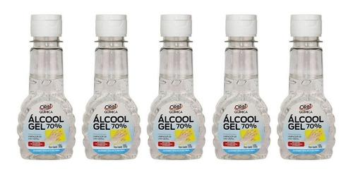 Alcool Gel 70 % P/ Mãos Bolsa Pequeno Certificado Anvisa C/5