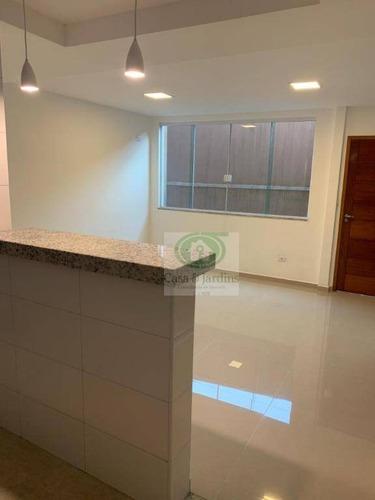 Casa Tipo Sobrado Com 2 Dormitórios À Venda, 90 M² Por R$ 467.000 - Marapé - Santos/sp - Ca0912