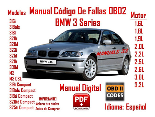 Manual Codigos De Fallas Bmw 3 Series E46 En Español Obd 2