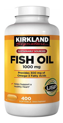 Omega 3 Fish Oil Kirkland X 400 - Unidad a $0