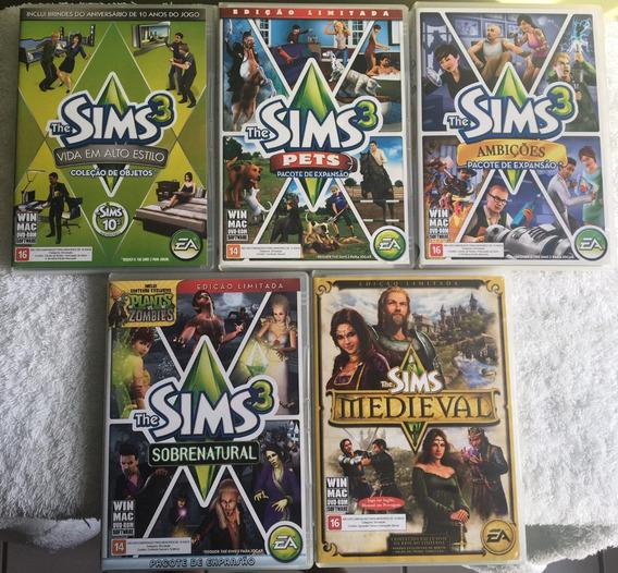 Kit 5 - The Sims 3 Expansão (dvd Rom) Frete Grátis