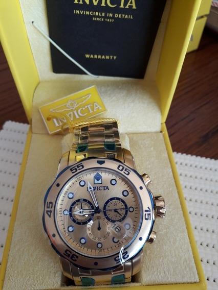 Relógio Invicta Pro Diver 80069 Masculino Banhado Ouro 18