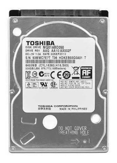 Hd Sata Notebook 500gb Toshiba Mq01abd050v Frete Grátis