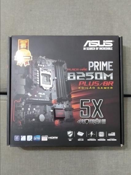 Placa-mãe Asus Prime B250m-plus/br, Intel Lga 1151, Ddr4