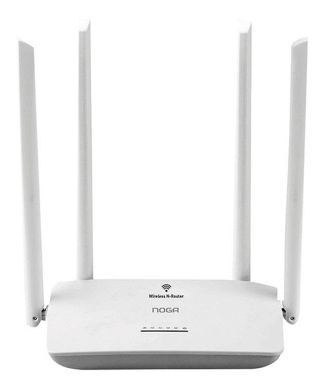 Router Inalambrico Wifi Noga Wr08 4 Antenas 300mbps Wps Gtia