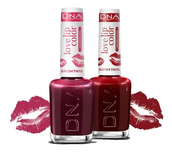 Dna Love Lip Color Batom Tinta Com 2: Love Red + Love Cherry