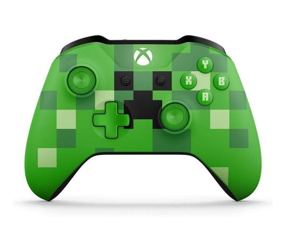 Controle joystick Microsoft Xbox One minecraft creeper