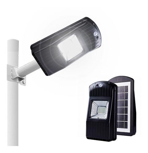Reflector Led Luminaria Calle Solar 30w Sensor Exterior Alumbrado Publico