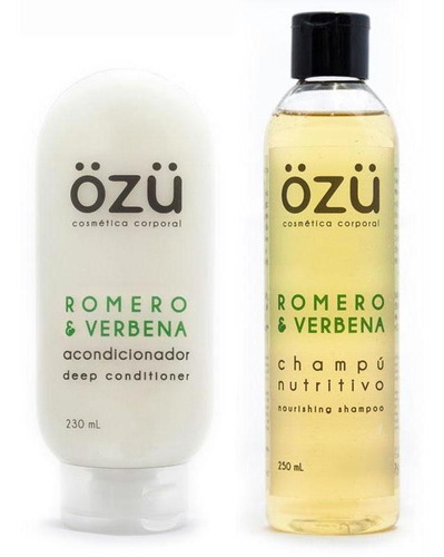 Kit De Shampoo Y Acondicionador Artesanal Romero Verbena