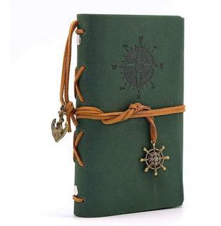Libreta Vintage De Piel, Cuaderno De Bolsillo, Dibujo