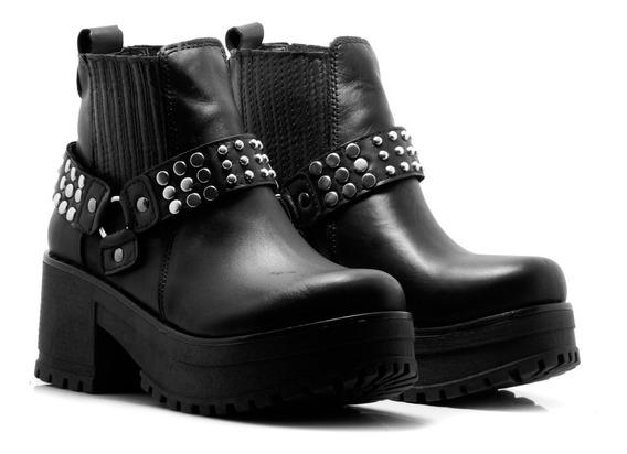 Zapatos Mujer Borcegos Botinetas Dama Cuero Vacuno Nuevo