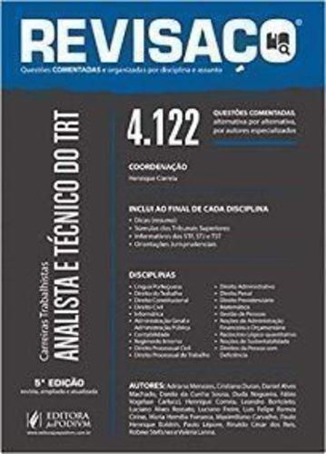 Revisaço Analista E Técnico Do Trt 4122 Questões Comentad...