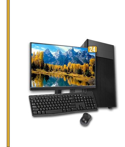 Pc Completo 24 Core I7 4ªg, 8gb Ram, Hd 1tb + Ssd 120gb