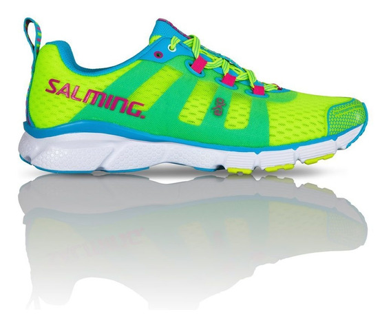 Zapatillas Salming Enroute Fluo Yellow Running Mujer