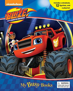 Book : Blaze And The Monster Machines My Busy Book - Phidal.