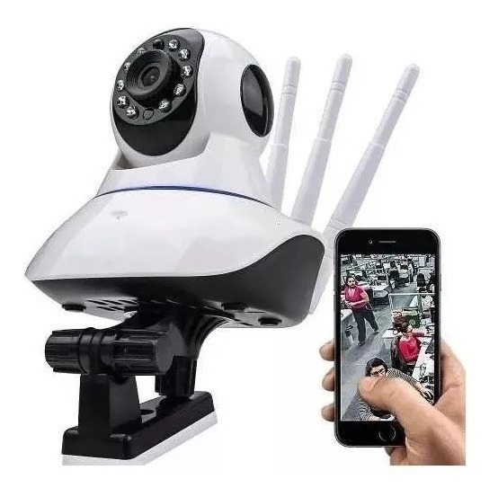 Câmera Ip Wifi Celular Hd P2p Segurança 3 Antenas Yoosee