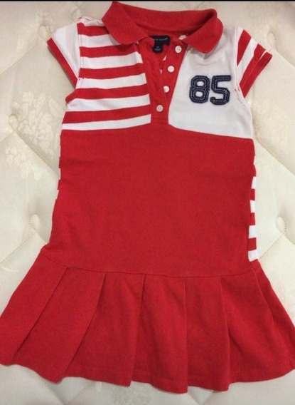 Vestido Vermelho Infantil Tommy Hilfiger