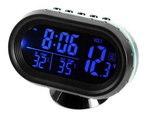 Imagen 1 de 6 de Coche Termómetro Digital Reloj Automático Vehículos Doble Te