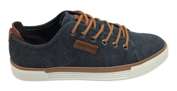 Tênis Sapatênis Casual West Coast Jeans 100% Original + N F